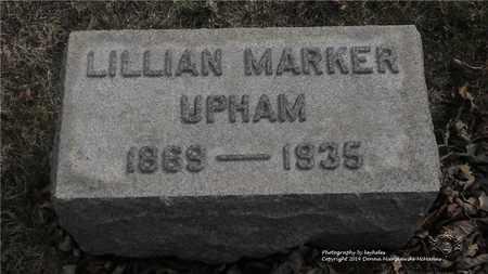 UPHAM, LILLIAN - Lucas County, Ohio | LILLIAN UPHAM - Ohio Gravestone Photos