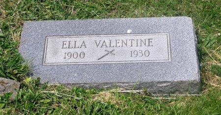 VALENTINE, ELLA - Lucas County, Ohio | ELLA VALENTINE - Ohio Gravestone Photos