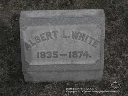 WHITE, ALBERT L. - Lucas County, Ohio | ALBERT L. WHITE - Ohio Gravestone Photos