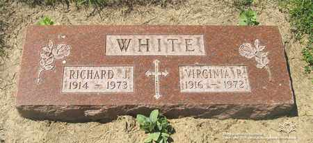 WHITE, RICHARD J. - Lucas County, Ohio | RICHARD J. WHITE - Ohio Gravestone Photos
