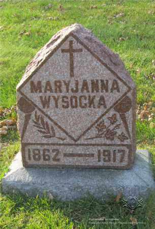 WYSOCKA, MARYJANNA - Lucas County, Ohio | MARYJANNA WYSOCKA - Ohio Gravestone Photos