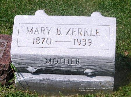 ZERKLE, MARY B. - Lucas County, Ohio   MARY B. ZERKLE - Ohio Gravestone Photos