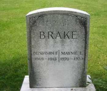 BRAKE, BENJAMIN FRANKLIN - Madison County, Ohio | BENJAMIN FRANKLIN BRAKE - Ohio Gravestone Photos