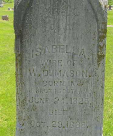 MASON, ISABELLA - Madison County, Ohio | ISABELLA MASON - Ohio Gravestone Photos