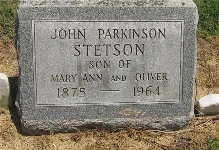 STETSON, JOHN PARKINSON - Madison County, Ohio | JOHN PARKINSON STETSON - Ohio Gravestone Photos