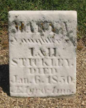 STICKLEY, MARIA - Madison County, Ohio | MARIA STICKLEY - Ohio Gravestone Photos