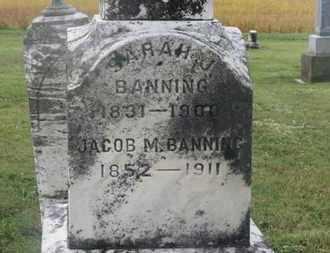 BANING, SARAH J. - Marion County, Ohio | SARAH J. BANING - Ohio Gravestone Photos