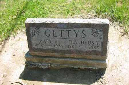 GETTYS, MARY E. - Marion County, Ohio | MARY E. GETTYS - Ohio Gravestone Photos