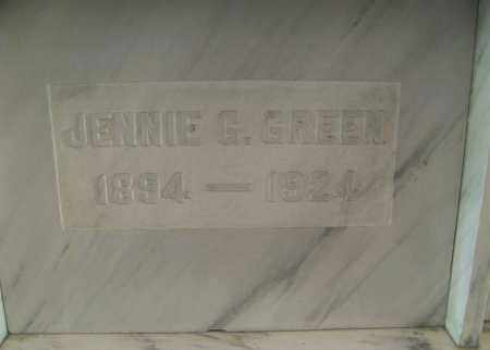 GREEN, JENNIE - Marion County, Ohio   JENNIE GREEN - Ohio Gravestone Photos