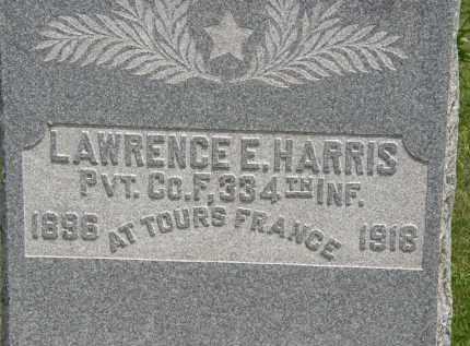 HARRIS, LAWRENCE E. - Marion County, Ohio   LAWRENCE E. HARRIS - Ohio Gravestone Photos