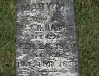 HARRIS, MARY M. - Marion County, Ohio | MARY M. HARRIS - Ohio Gravestone Photos