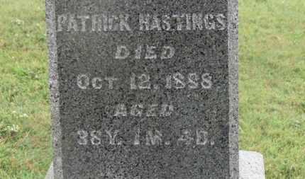 HASTINGS, PATRICK - Marion County, Ohio   PATRICK HASTINGS - Ohio Gravestone Photos