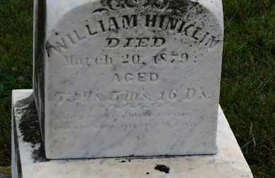 HINKLIN, WILLIAM - Marion County, Ohio | WILLIAM HINKLIN - Ohio Gravestone Photos