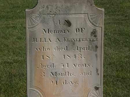 KLINEFELTER, JULIA - Marion County, Ohio | JULIA KLINEFELTER - Ohio Gravestone Photos