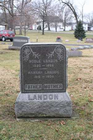 LANDON, NOBLE - Marion County, Ohio | NOBLE LANDON - Ohio Gravestone Photos