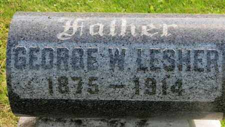 LESHER, GEORGE W. - Marion County, Ohio   GEORGE W. LESHER - Ohio Gravestone Photos