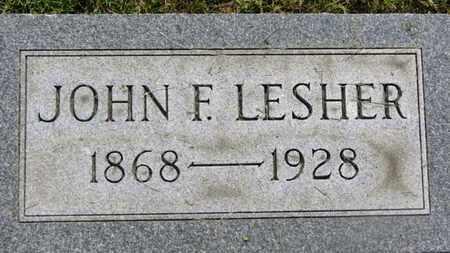 LESHER, JOHN F. - Marion County, Ohio   JOHN F. LESHER - Ohio Gravestone Photos