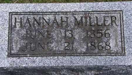 MILLER, HANNAH - Marion County, Ohio | HANNAH MILLER - Ohio Gravestone Photos