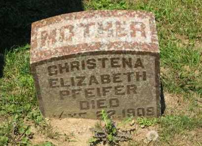 PFEIFER, CHRISTENA ELIZABETH - Marion County, Ohio | CHRISTENA ELIZABETH PFEIFER - Ohio Gravestone Photos