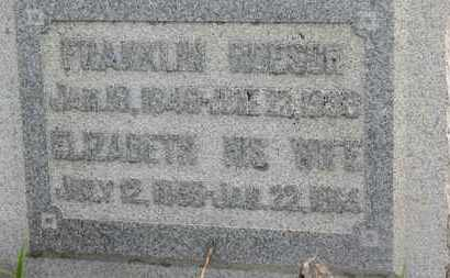ROESCH, ELIZABETH - Marion County, Ohio   ELIZABETH ROESCH - Ohio Gravestone Photos