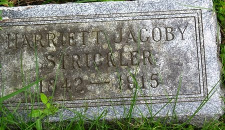 JACOBY STRICKLER, HARRIET - Marion County, Ohio | HARRIET JACOBY STRICKLER - Ohio Gravestone Photos
