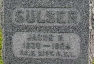 SULSER, JACOB R. - Marion County, Ohio | JACOB R. SULSER - Ohio Gravestone Photos