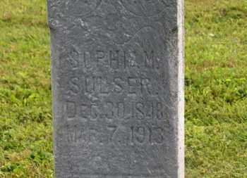 SULSER, SOPHIA M. - Marion County, Ohio | SOPHIA M. SULSER - Ohio Gravestone Photos