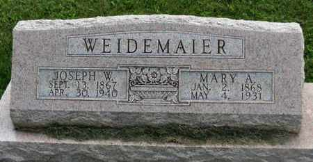 WEIDEMAIER, JOSEPH W. - Marion County, Ohio | JOSEPH W. WEIDEMAIER - Ohio Gravestone Photos
