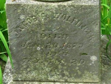 "WOLFINGER, JACOB""DIW=ED - Marion County, Ohio | JACOB""DIW=ED WOLFINGER - Ohio Gravestone Photos"