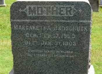 BADSCHUSK, MARGARETHA - Medina County, Ohio   MARGARETHA BADSCHUSK - Ohio Gravestone Photos