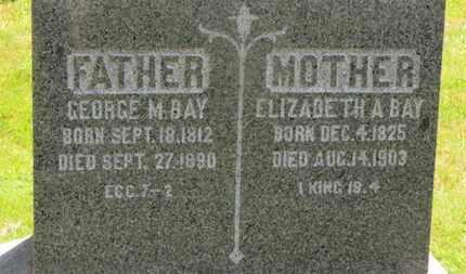 BAY, ELIZABETH A. - Medina County, Ohio | ELIZABETH A. BAY - Ohio Gravestone Photos