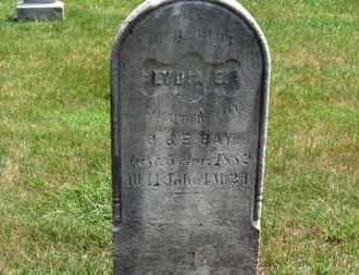 BAY, LYDIA E. - Medina County, Ohio | LYDIA E. BAY - Ohio Gravestone Photos