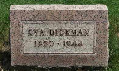 DICKMAN, EVA - Medina County, Ohio | EVA DICKMAN - Ohio Gravestone Photos