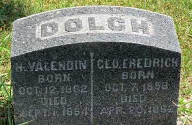 DOLCH, GEO. FREDRICH - Medina County, Ohio   GEO. FREDRICH DOLCH - Ohio Gravestone Photos