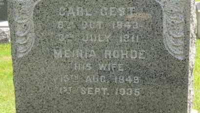 ROHDE GEST, MEINA - Medina County, Ohio | MEINA ROHDE GEST - Ohio Gravestone Photos