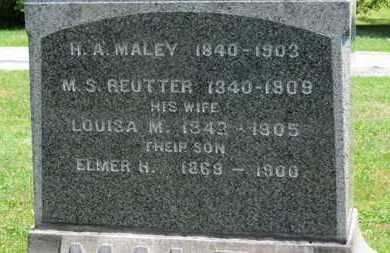 REUTTER, M.S. - Medina County, Ohio | M.S. REUTTER - Ohio Gravestone Photos