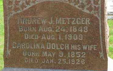 METZGER, CAROLINA - Medina County, Ohio   CAROLINA METZGER - Ohio Gravestone Photos