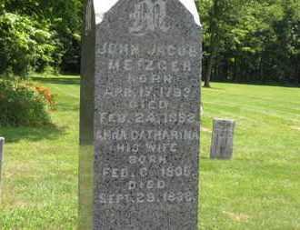 METZGER, ANNA CATHARINA - Medina County, Ohio   ANNA CATHARINA METZGER - Ohio Gravestone Photos