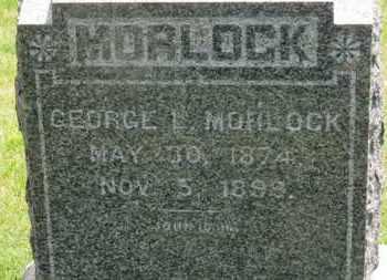 MORLOCK, GEORGE L. - Medina County, Ohio   GEORGE L. MORLOCK - Ohio Gravestone Photos