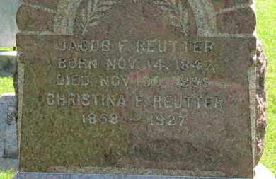 REUTTER, CHRISTINA F. - Medina County, Ohio | CHRISTINA F. REUTTER - Ohio Gravestone Photos