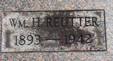 REUTTER, WM. H. - Medina County, Ohio   WM. H. REUTTER - Ohio Gravestone Photos