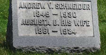 SCHNEIDER, AUGUSTA B. - Medina County, Ohio   AUGUSTA B. SCHNEIDER - Ohio Gravestone Photos