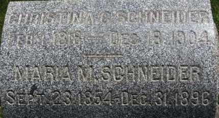 SCHNEIDER, MARIA M. - Medina County, Ohio   MARIA M. SCHNEIDER - Ohio Gravestone Photos