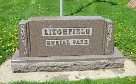 LITCHFIELD CEMETERY SIGN,  - Medina County, Ohio    LITCHFIELD CEMETERY SIGN - Ohio Gravestone Photos