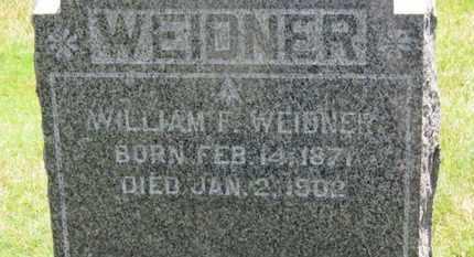 WEIDNER, WILLIAM F. - Medina County, Ohio   WILLIAM F. WEIDNER - Ohio Gravestone Photos