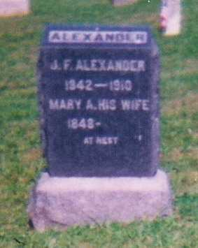 ALEXANDER, MARY - Meigs County, Ohio | MARY ALEXANDER - Ohio Gravestone Photos