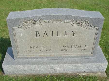BAILEY, WILLAIM A. - Meigs County, Ohio | WILLAIM A. BAILEY - Ohio Gravestone Photos