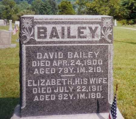 BAILEY, ELIZABETH - Meigs County, Ohio | ELIZABETH BAILEY - Ohio Gravestone Photos