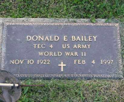BAILEY, DONALD E. - Meigs County, Ohio   DONALD E. BAILEY - Ohio Gravestone Photos