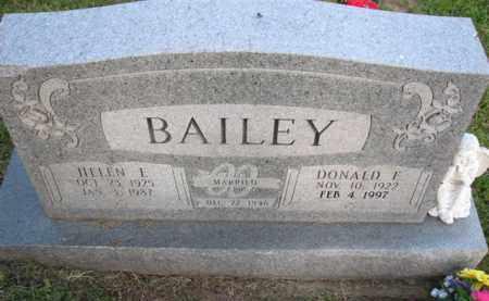 BAILEY, HELEN E. - Meigs County, Ohio | HELEN E. BAILEY - Ohio Gravestone Photos